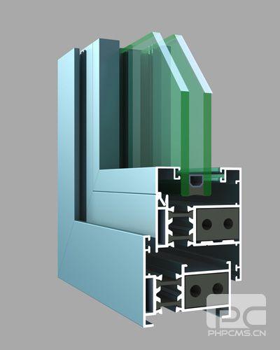 53系列隔热节能铝合金平开窗(穿条)