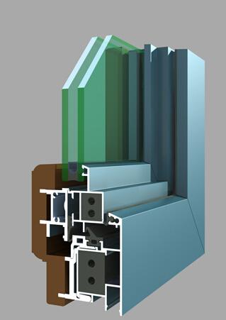80系列铝木复合平开窗